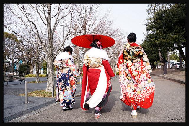 日本京都東山_平安神宮成人式日