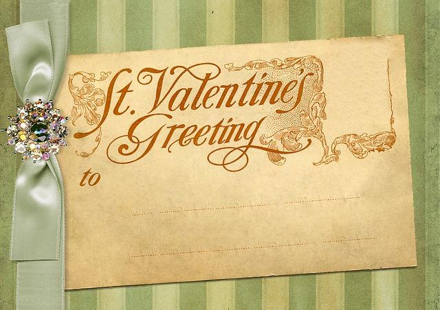 家族に渡すバレンタインカード ...